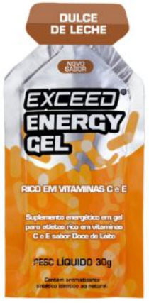 exceed energy gel doce de leite