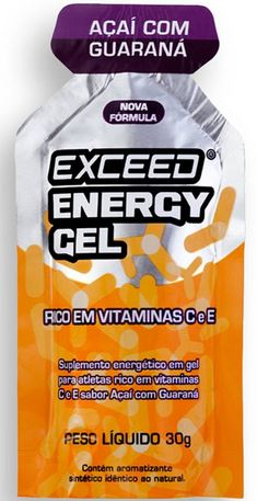 exceed energy gel açaí com guaraná